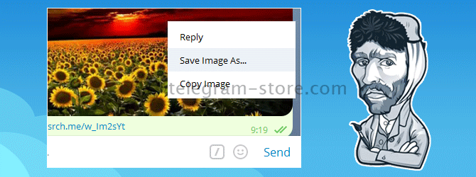 Several ways to save a photo in Telegram