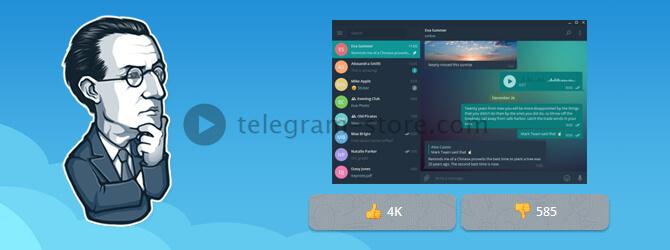 Просмотр популярности темы для Телеграмм