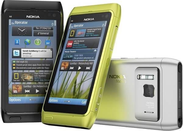 Смартфон Nokia N8 разных цветов