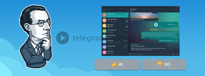 View topic popularity for Telegram