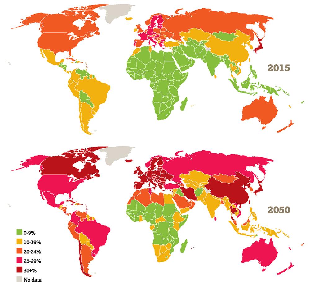 Распределение возрастных групп по странам