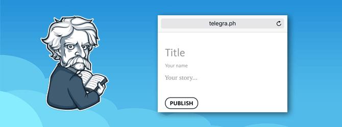 Как работать с сервисом Телеграф