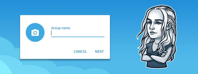 Групповой чат для общения близких друзей в Telegram