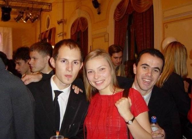 Паша Дуров в студенческие времена