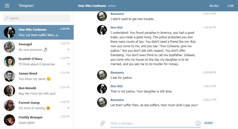 Telegram Web (Online)